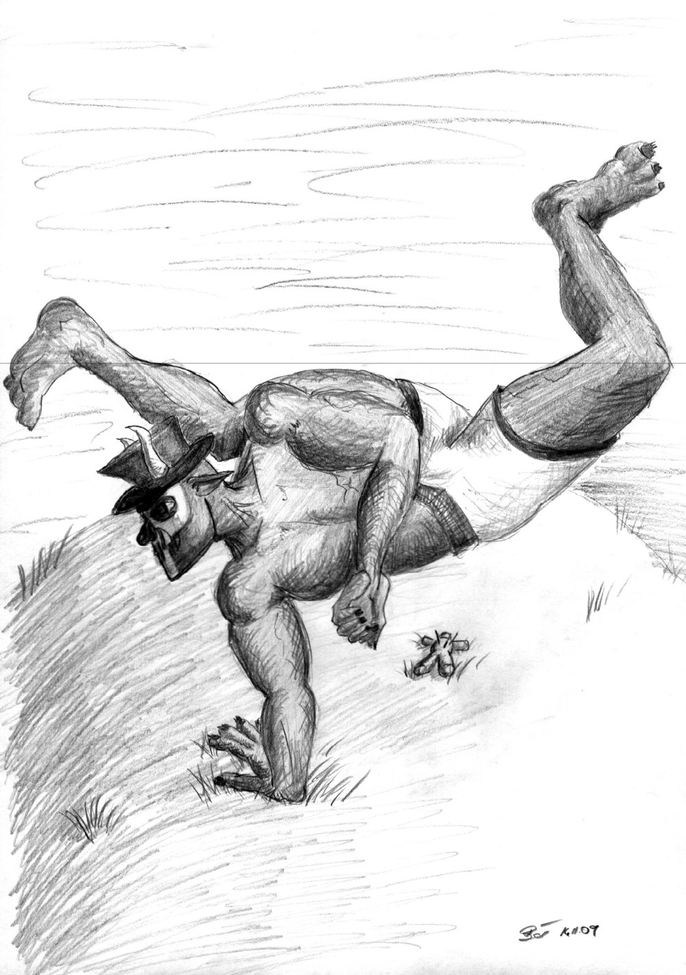 Capoeira-Troll for the short scenario Horde of the Nexus e.V.
