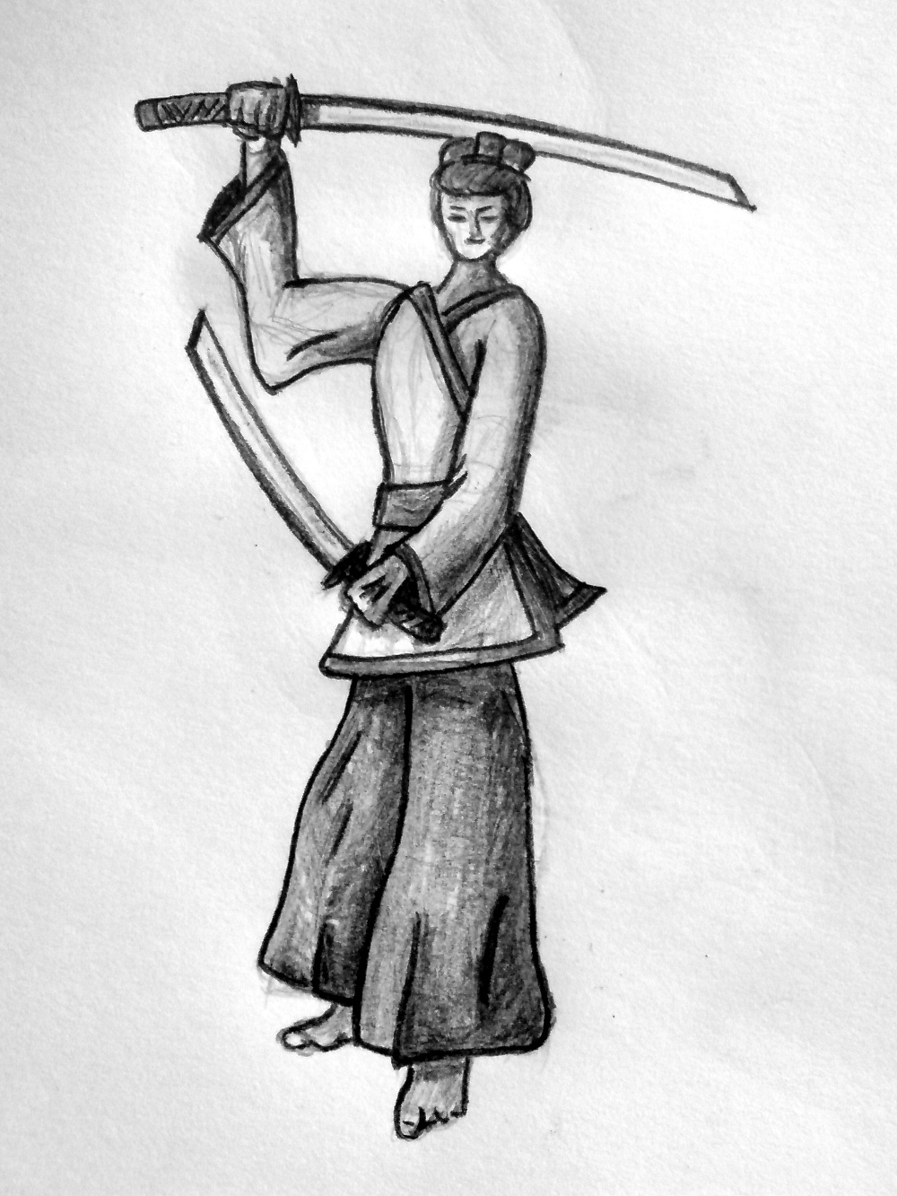 Samurai with Niten-Style (Two swords).